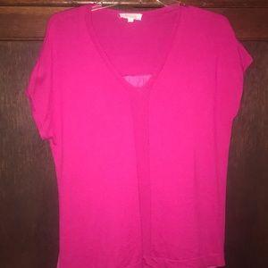 Magenta short sleeved light sweater